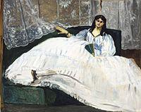 Jeanne Duval, amante de Baudelarie cuando éste ten�a 21 años. Es retratada por Édouard Manet.