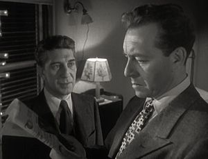 English: Eduard Franz (left) & Paul Henreid in...