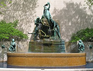 English: Fountain of the Great Lakes at the Ar...