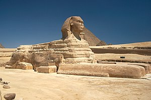 English: Great Sphinx of Giza, Egypt. Español:...