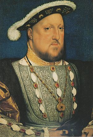 Portrait of Henry VIII, c. 1536. Oil and tempe...