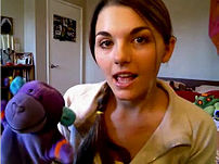 Bree aka lonelygirl15 and her stuffed animal f...