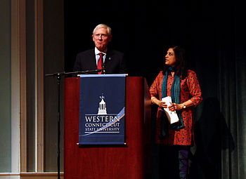 English: Mira Nair speaking at Western Connect...