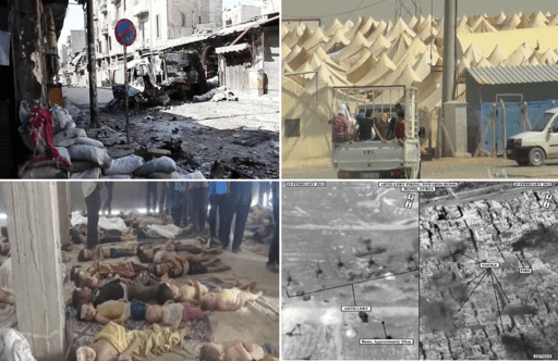 Montage of the Syrian Civil War