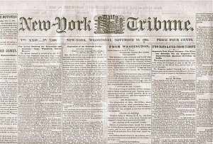 1864 New York Tribune Newspaper