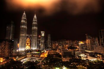 A view of Petronas Twin Towers and the surrounding central business district in Kuala Lumpur, a testament of the Malaysian phenomenal economic evolution under Mahathir's 22-year rule.