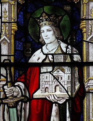 English: Saint King Edwin of Northumbria, St M...