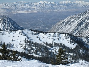 The Salt Lake Valley and Oquirrh Mountains (ba...