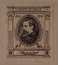 Estampilla conmemorativa del centenario de Charles Dickens