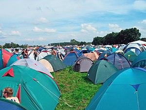 Pukkelpop 2006 tent camp.