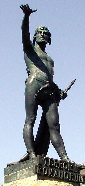 Statue of Viriato, at Zamora, Spain