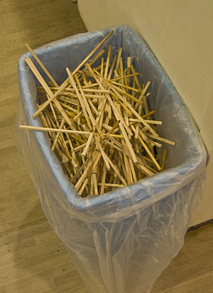 Disposable chopsticks in the cafeteri