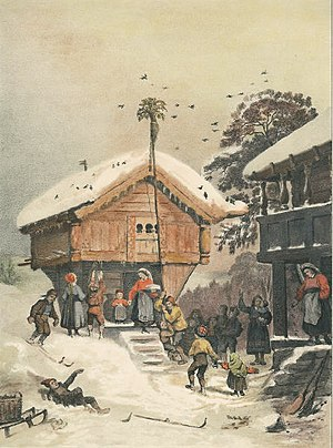 A Norwegian Christmas, 1846 painting by Adolph...