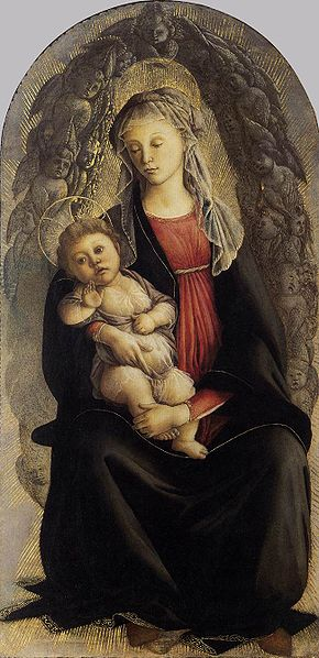 File:Botticelli, madonna in gloria di serafini.jpg