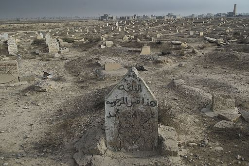 Cemetery destroyed by ISIS, Qayyarah town The Mosul Distric, Northern Iraq, Western Asia. 10 November, 2016