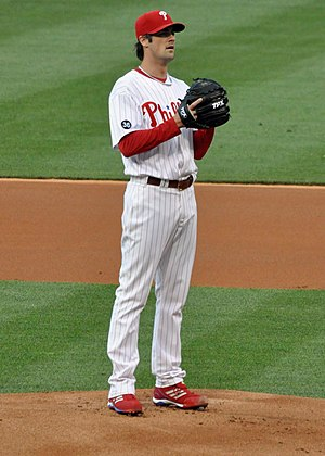 English: Cole Hamels of the Philadelphia Phill...