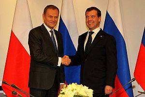 With Prime Minister of Poland Donald Tusk. Рус...