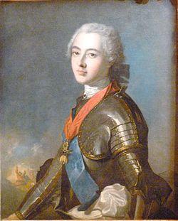Portrait du duc de Penthièvre à la bataille de FontenoyHuile sur toile par Jean-Marc Nattier
