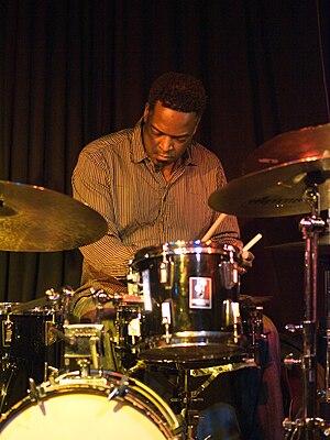 Gerald Cleaver, jazz drummer, picture taken in...