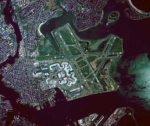 English: Boston's Logan Airport (KBOS) aerial ...