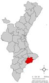Localización respecto a Comunidad Valenciana