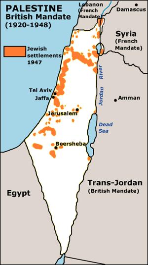 Jewish settlements in Palestine, 1920-1948