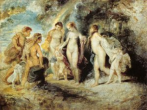 Peter Paul Rubens - The Judgement of Paris - W...