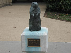 English: Groundhog sculpture in Punxsutawney, ...