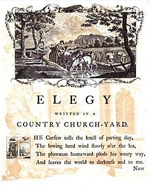 "Summary of Thomas Gray's: ""Elegy Written in a Country"