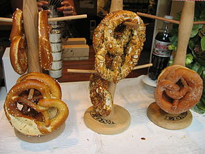 Pretzels for sale in Alsace