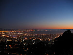 Berkeley and San Francisco Bay at Nightfall