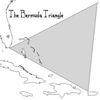 Mapa del Triángulo de las Bermudas.