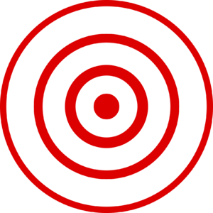 Bull's eye graphic for use with earthquake loc...