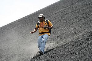 Bajando el Cerro Negro Cortesía Diana Nivia