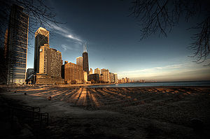 Chicago from across Lake Michigan.