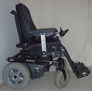 English: Electric-powered wheelchair Belize