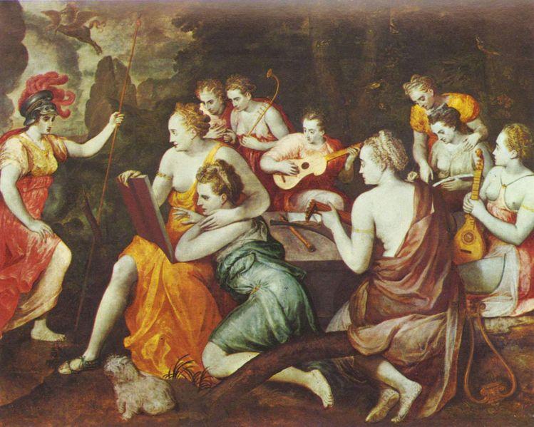 Frans Floris, Atena i muzy, 1560