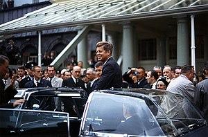 President John F. Kennedy in Ireland.
