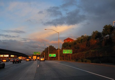 English: My own photo of Pomona Freeway