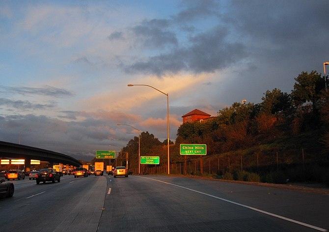 English: My own photo of Pomona Freeway