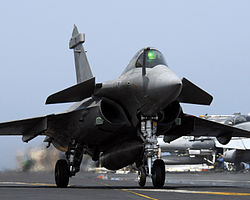Jet militar frances Rafale.