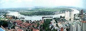 Français : Saigon en panoramique
