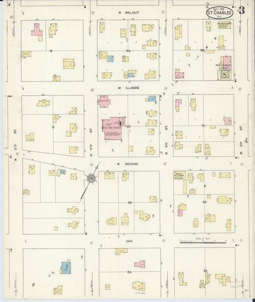 Saint Charles Illinois Map
