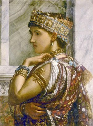 English: zenobia, queen of Palmyra, by Sir Edw...