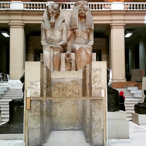 Statue of Amenhotep III and Tiye