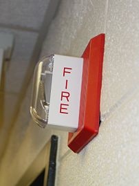 A Wheelock MT-24-LSM electronic fire alarm hor...