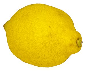 English: A whole lemon