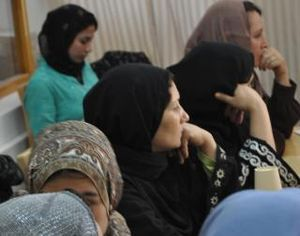 Afghan women celebrate mother's day at a guest...