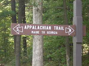 Sign for the Appalachian Trail in Pennsylvania...