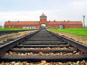 Auschwitz II - Birkenau - Entrance gate and ma...